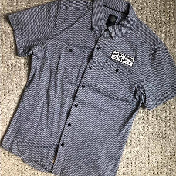 dbd5b688 Harley-Davidson Shirts | Harleydavidson Black Label Mens Button Up ...